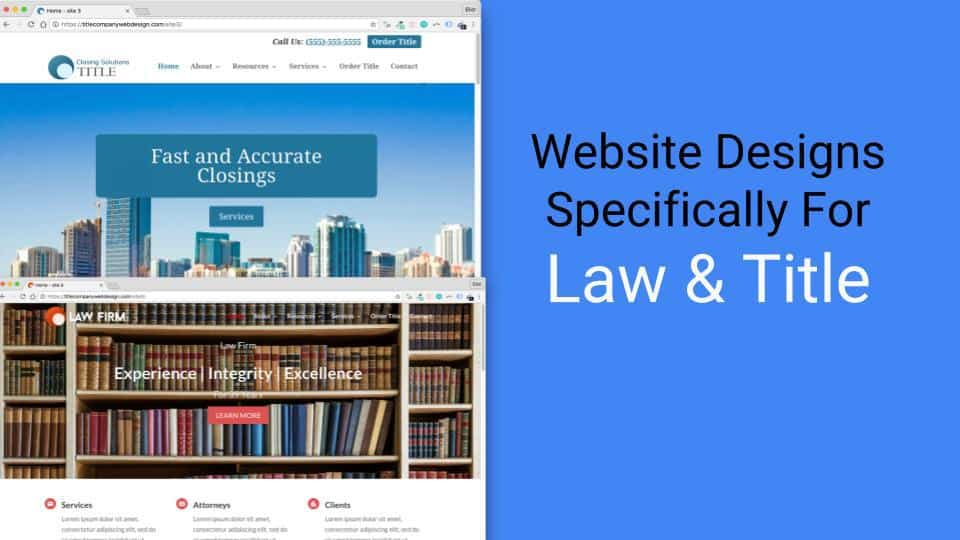 New Industry Compliant, Customizable Title Insurance Website Templates Announced