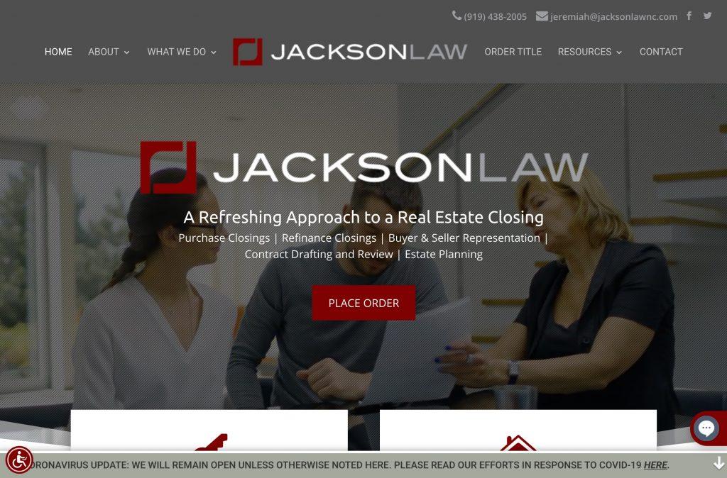 Jackson Law Firm Screenshot
