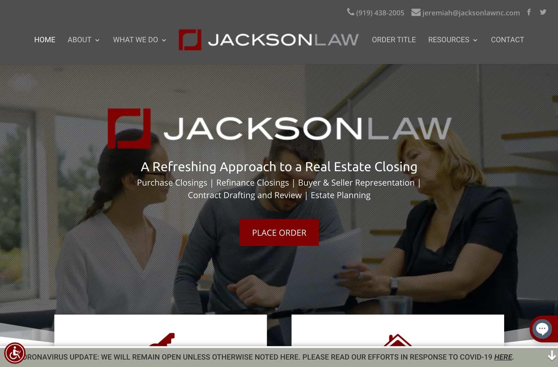 Jackson Law Website Example