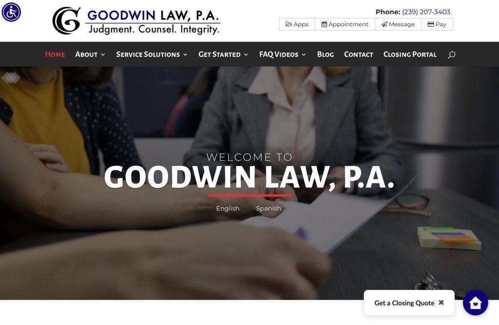Goodwin Law Homepage