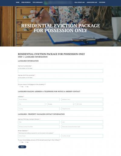 Advanced Website Form Screenshot