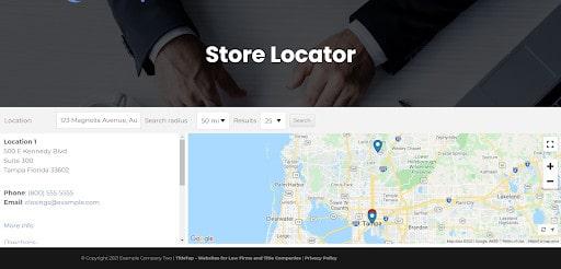 Office Locator Map Screenshot 1