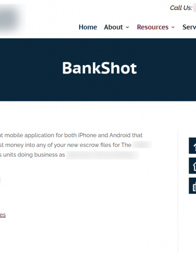 BankShot Marketing Page Screenshot Option 2