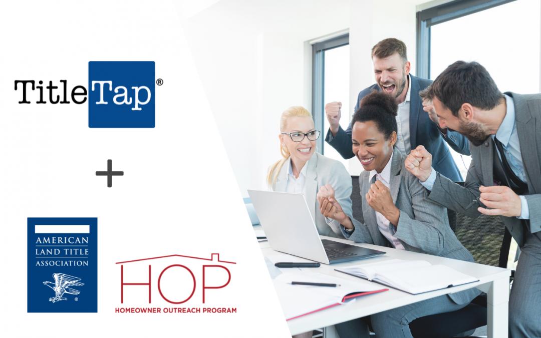TitleTap Partners with ALTA HOP on Website Marketing Integration